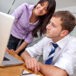 Business couple working — Stock Photo #7736851