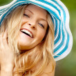 Woman with a hat - Stock Photo