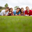 Stock Photo: Group of friends outdoors