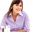 Woman at dinner table - Photo