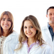 Group of doctors isolated — Stock Photo