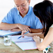 Stock Photo: Man and woman studying