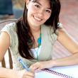 Beautiful woman studying — Stock Photo
