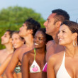 Group of friends at the beach — Stock Photo #7737160