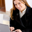 Business woman working - Stock Photo