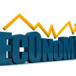 Stock Photo: Economy going up