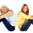 Stock Photo: Casual women isolated