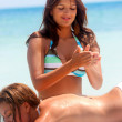 Massage at the beach — Stock Photo #7737517