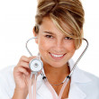 Royalty-Free Stock Photo: Female doctor with stethoscope