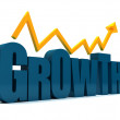 Word growth isolated — Stock Photo