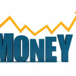 Stock Photo: Word money isolated