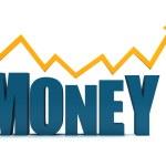 Word money isolated — Stock Photo