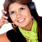 Woman with earphones — Stock Photo #7737730