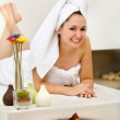 Woman at a spa - Stock Photo