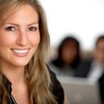 mujer de negocios sonriendo — Foto de Stock