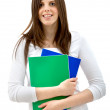 Стоковое фото: Female student with notebooks