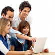 Friends with a laptop — Stock Photo #7737943