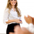 Business woman making a presentation — Stock Photo