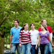 Stock Photo: Group of walking