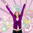 Happy woman full of success - Foto Stock