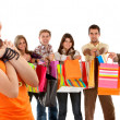 Group of shoppers — Stock Photo #7738238
