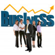 Foto Stock: Group of business
