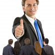 Thumbs-up business man — Stock Photo