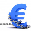 Royalty-Free Stock Photo: Euro symbol in chains