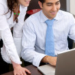 Stock Photo: Couple on laptop