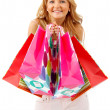 Woman with shopping bags — 图库照片 #7738363