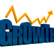 Stock Photo: Word growth in 3D