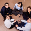 Business group in a circle — Stock Photo