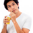 Man with a cocktail - Stock Photo