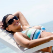 Casual woman on vacation — Stock Photo