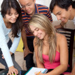 Students smiling — Stock Photo