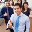 Business with thumbs up — Stock Photo #7738955