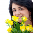 Stock Photo: Woman with flowers