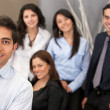 Stock Photo: Group of young executives
