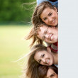 Behind banner — Stock Photo #7739025