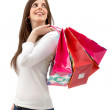 Stock Photo: Shopping womisolated