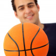 Man with a basketball - Foto Stock