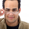 Stock Photo: Mwith eyeglasses