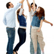 Group high five — Stock Photo