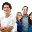 Casual group smiling — Stock Photo #7739134