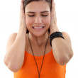 Woman covering her ears — Stock Photo #7739218