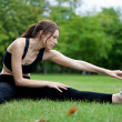 Woman stretching - Foto Stock