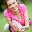 Sporty woman portrait — Stock Photo #7739243