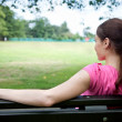 Sporty woman resting — Stock Photo