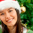 Christmas woman portrait — Stock Photo #7739357
