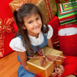 Christmas girl with gifts — Stock Photo #7739382